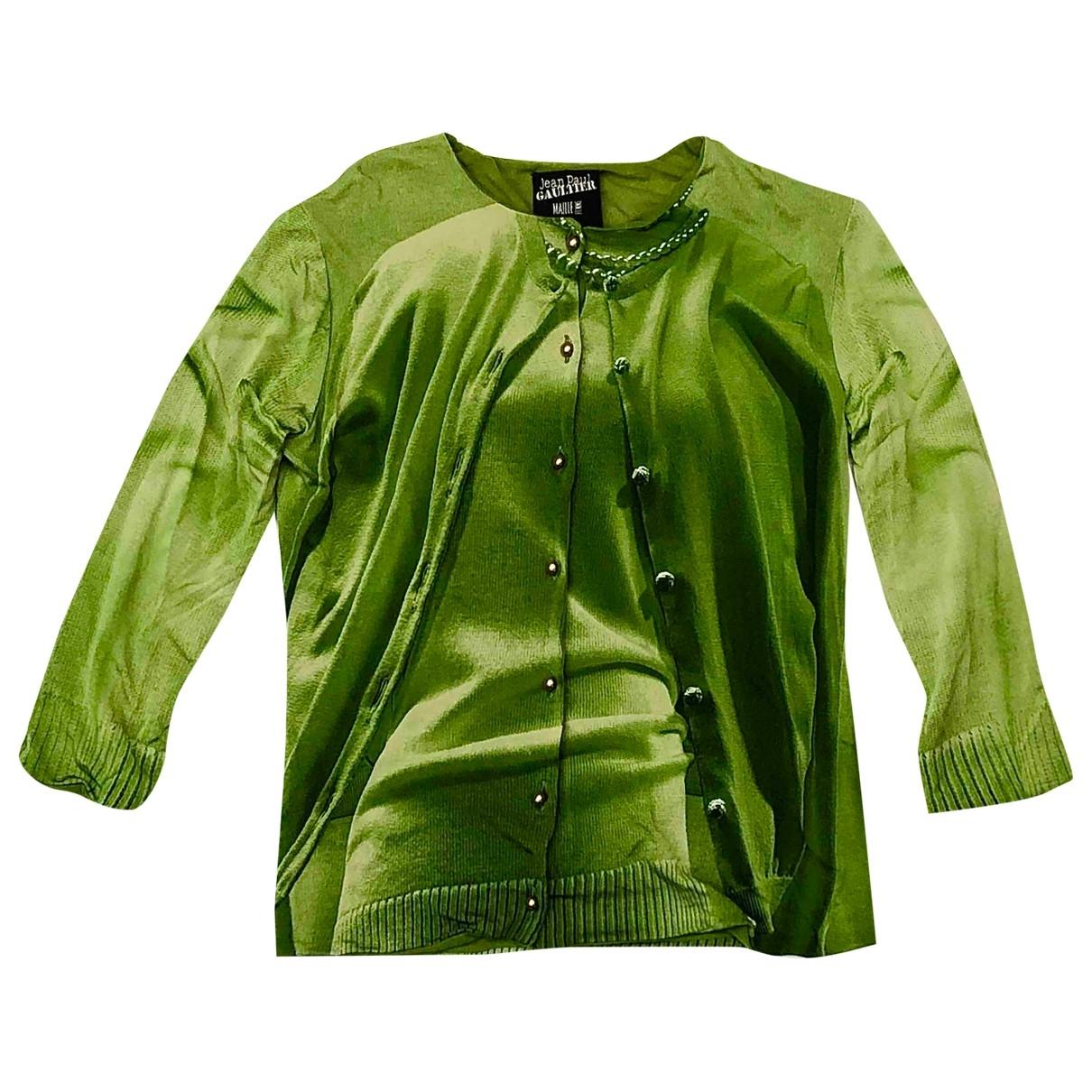 Jean Paul Gaultier \N Pullover in  Gruen Viskose