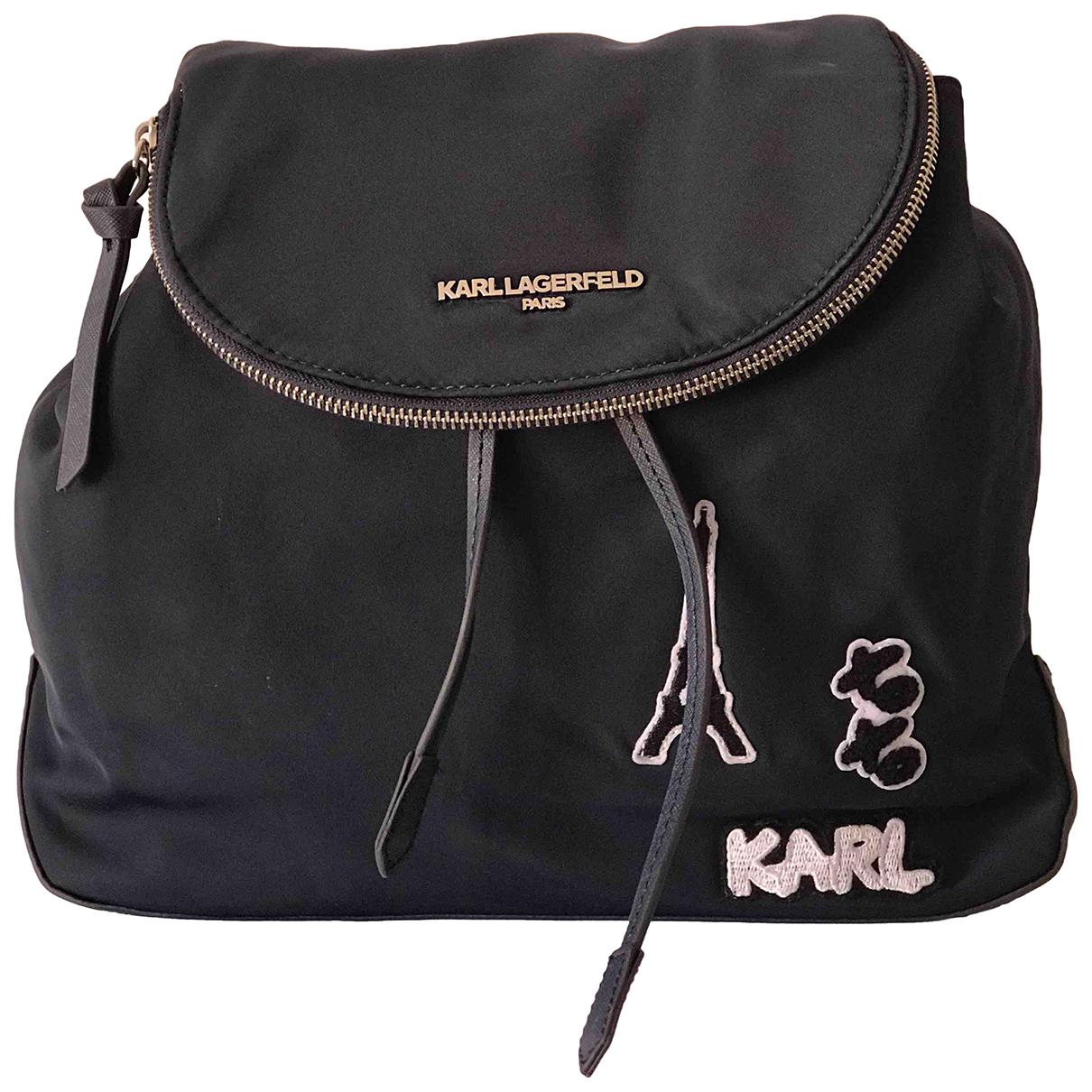 Karl Lagerfeld \N Rucksaecke in  Blau Leinen