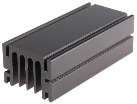 Fischer Elektronik Heatsink, 3K/W, 100 x 46 x 33mm, Screw, Black