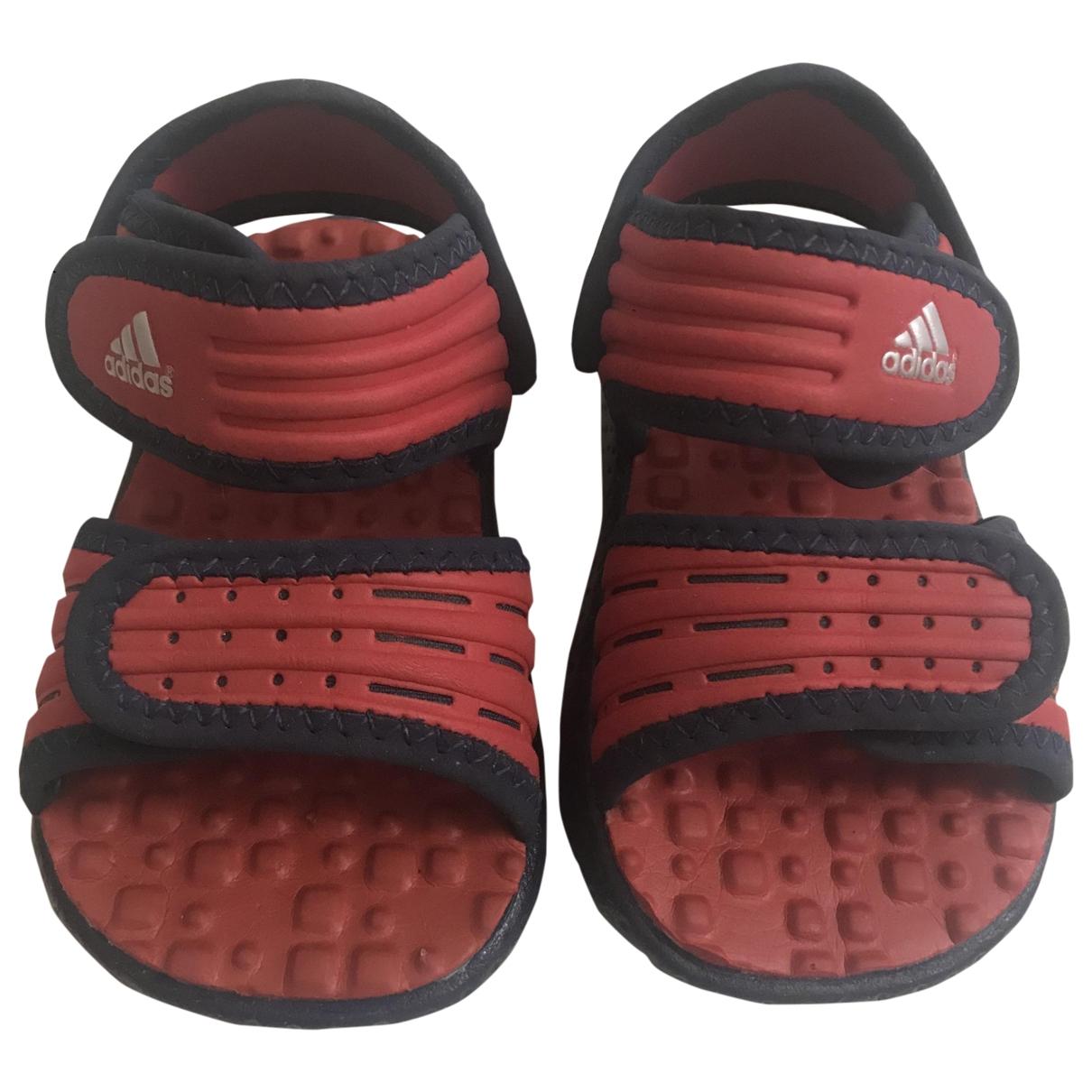 Adidas - Sandales   pour enfant en caoutchouc - rouge