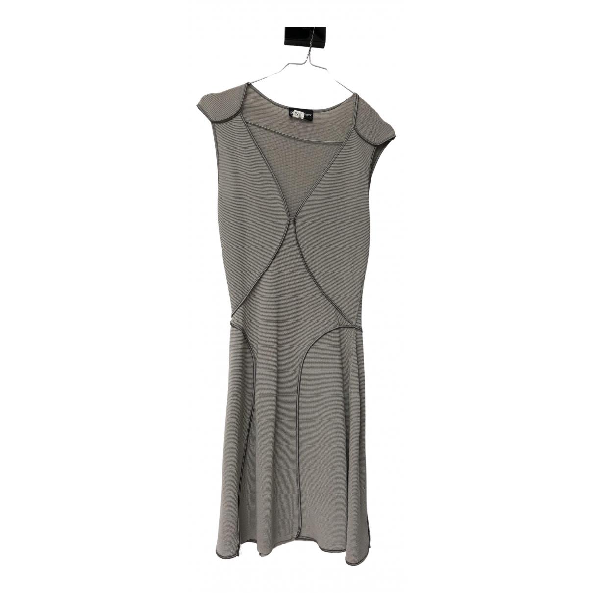 Emporio Armani \N Beige Cotton - elasthane dress for Women 38 FR