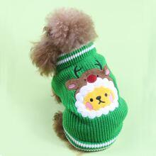 Cartoon Embroidered Dog Sweater
