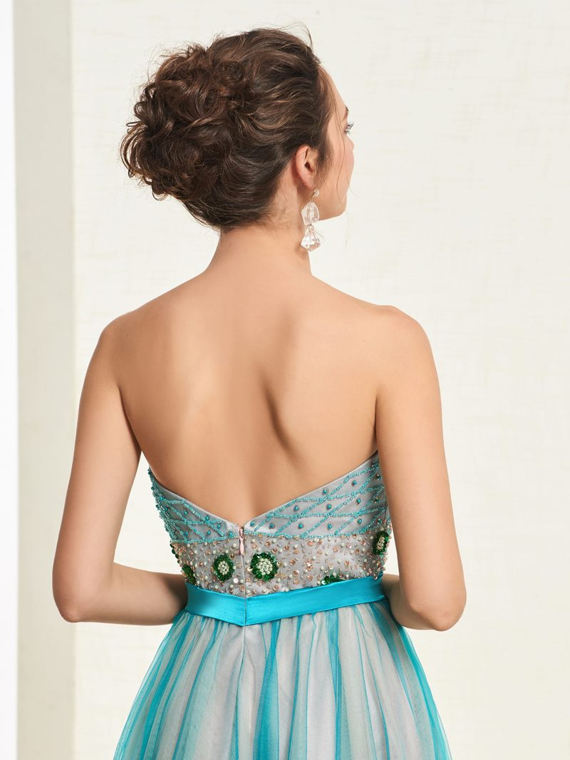 Ericdress Beading A-Line Sashes Prom Dress