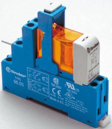 Finder , 230V ac SPDT Interface Relay Module, Screw Terminal , DIN Rail