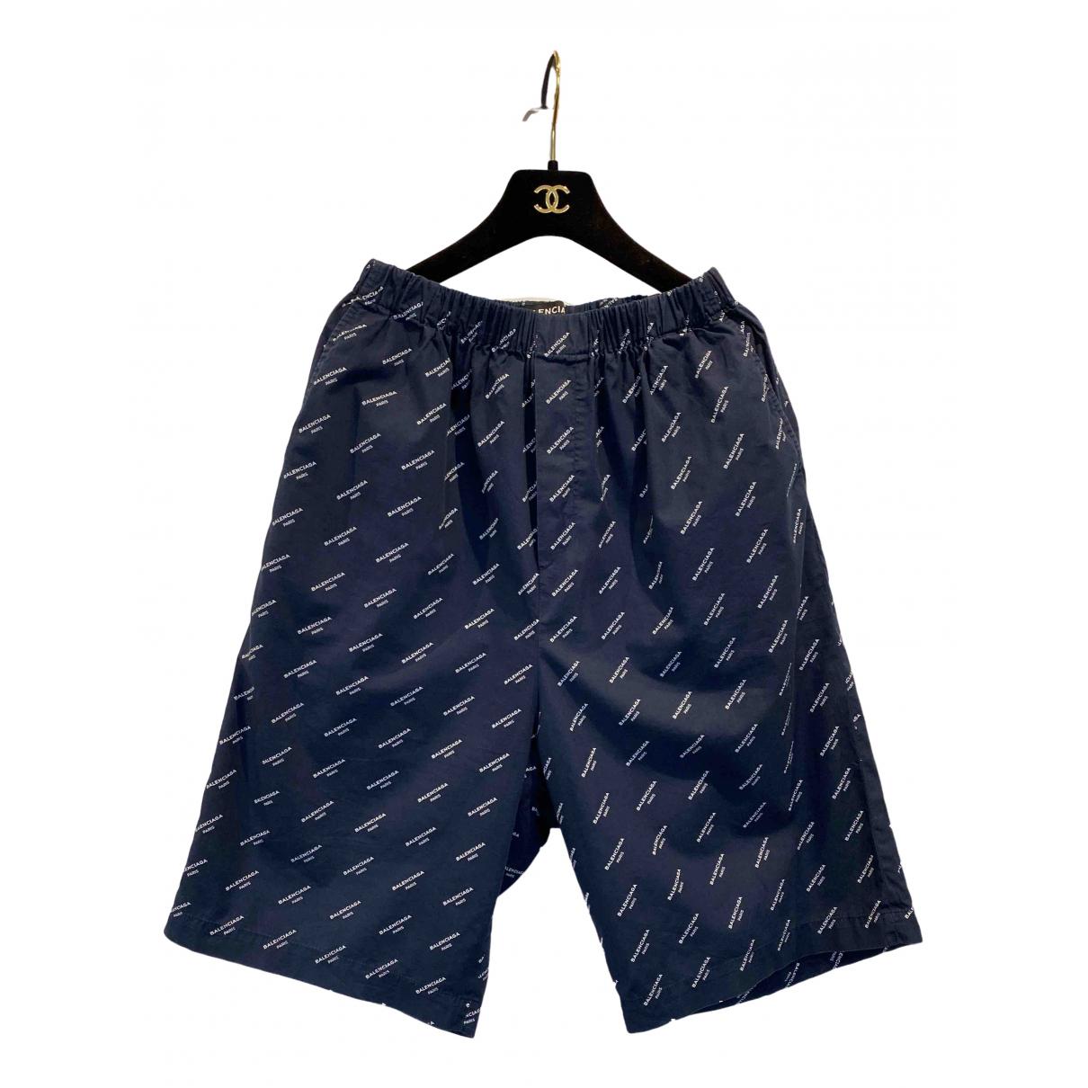 Balenciaga \N Shorts in  Marine Baumwolle