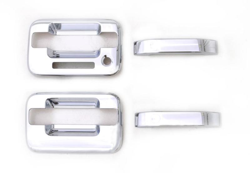 AVS 685201 Door Handle Covers (2 Door) 4pc Set - Chrome Ford F-150 (2 Door w/Keypad) 2004-2014