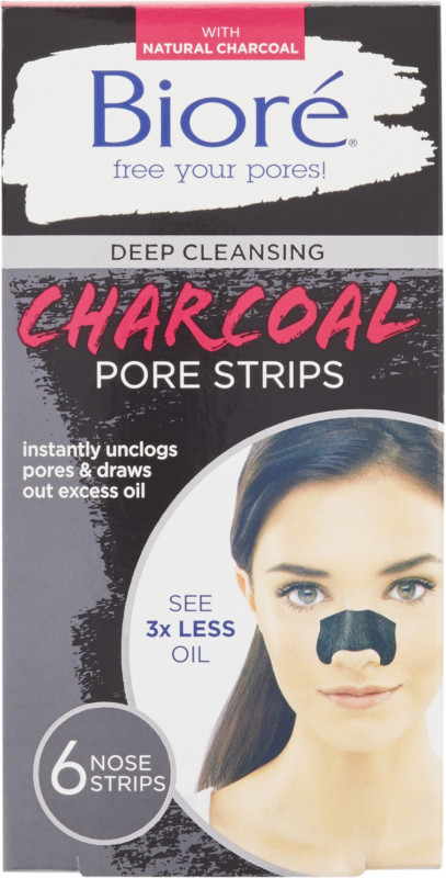 Deep Cleansing Charcoal Pore Strips - 6ct