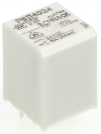 TE Connectivity , 24V dc Coil Non-Latching Relay SPDT, 10A Switching Current PCB Mount Single Pole