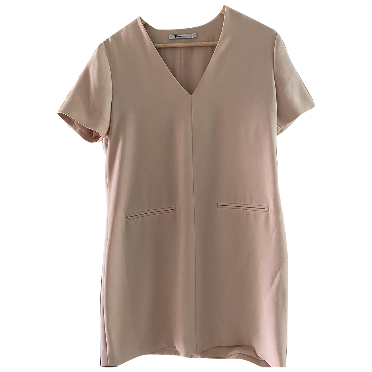 T By Alexander Wang \N Kleid in  Rosa Polyester