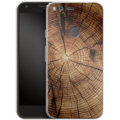 Google Pixel Silikon Handyhuelle - Tree Rings von caseable Designs