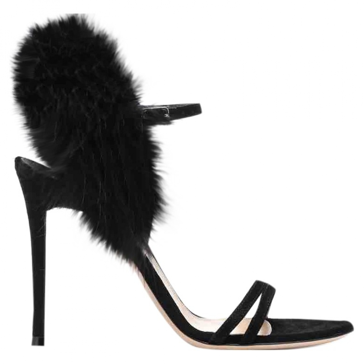 Gianvito Rossi \N Black Suede Sandals for Women 37 EU