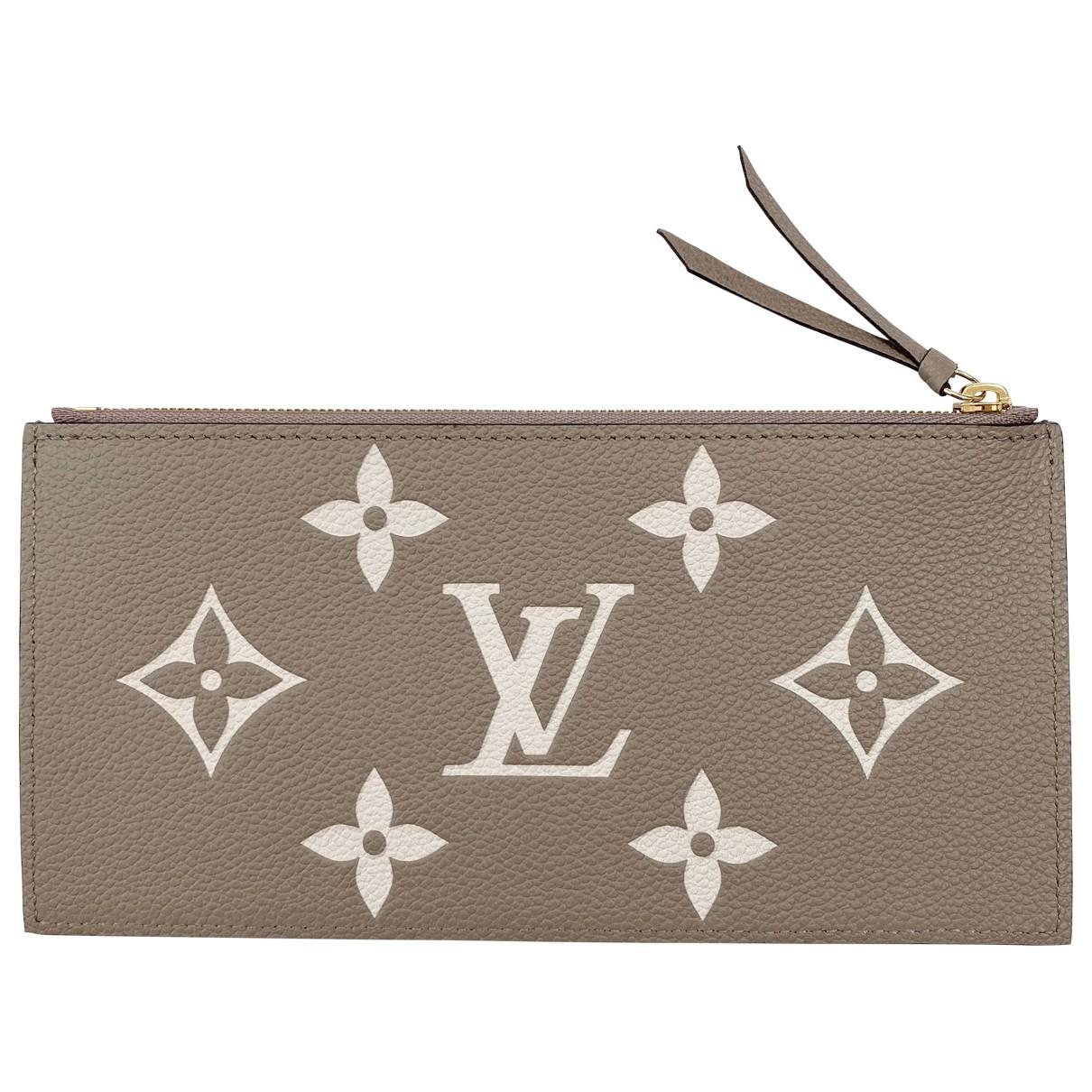 Louis Vuitton - Petite maroquinerie   pour femme en cuir - gris