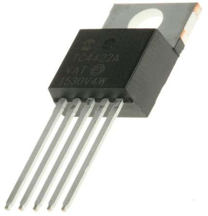 Microchip TC4422AVAT Low Side MOSFET Power Driver, 10A 5-Pin, TO-220