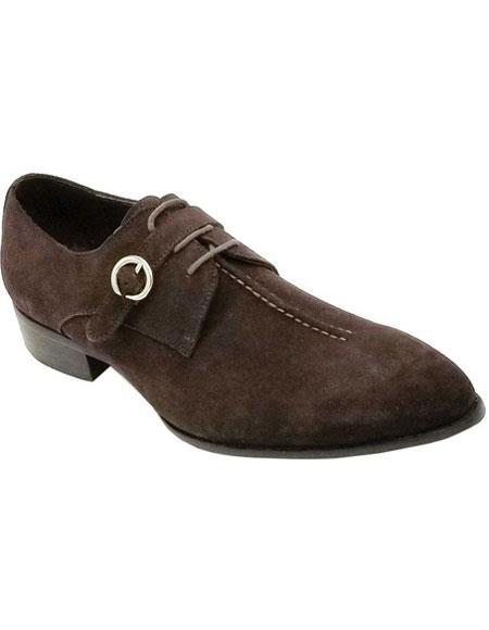 Mens Lace Up Zota - Buckle Brown Shoe