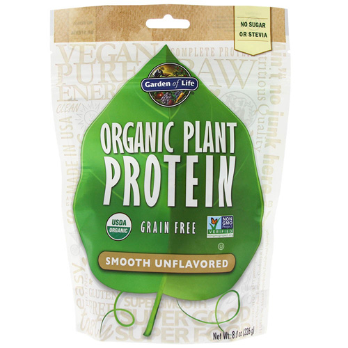 Organic Plant Protein Smooth Natural 226g by Garden of Life