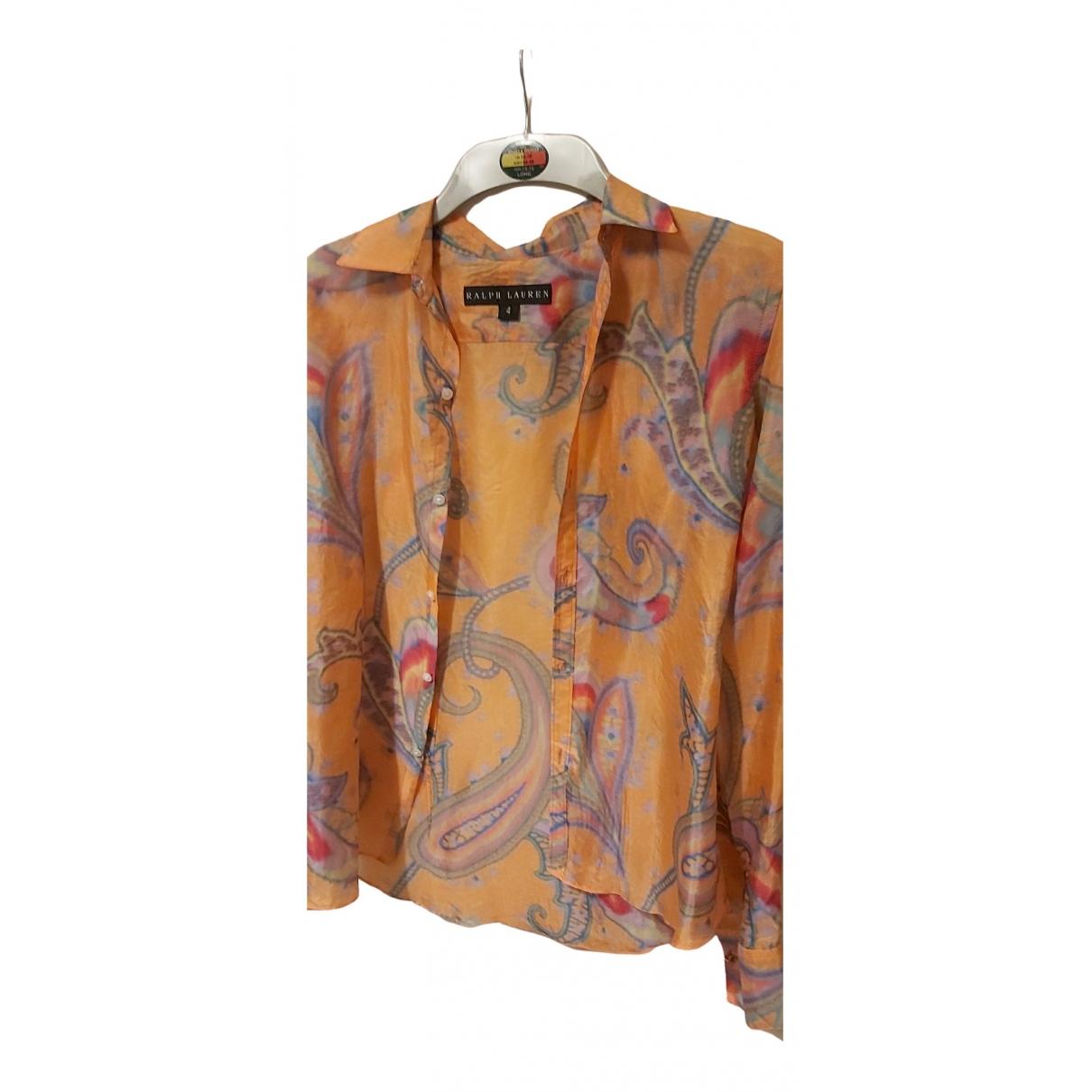 Ralph Lauren - Top   pour femme en soie - multicolore