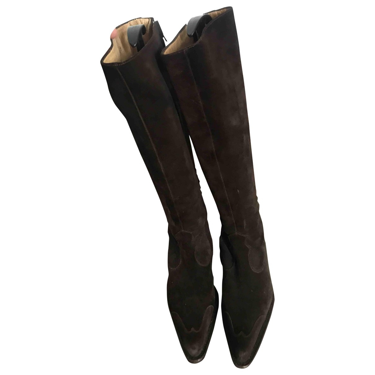 Free Lance \N Brown Suede Boots for Women 37.5 EU