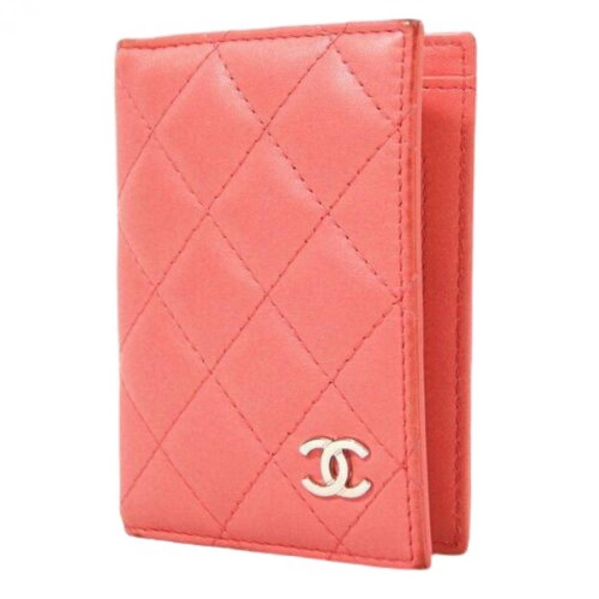Chanel \N Kleinlederwaren in  Rosa Leder