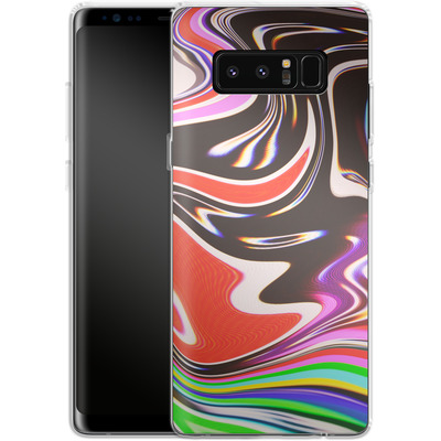 Samsung Galaxy Note 8 Silikon Handyhuelle - TV Swirl von #basic