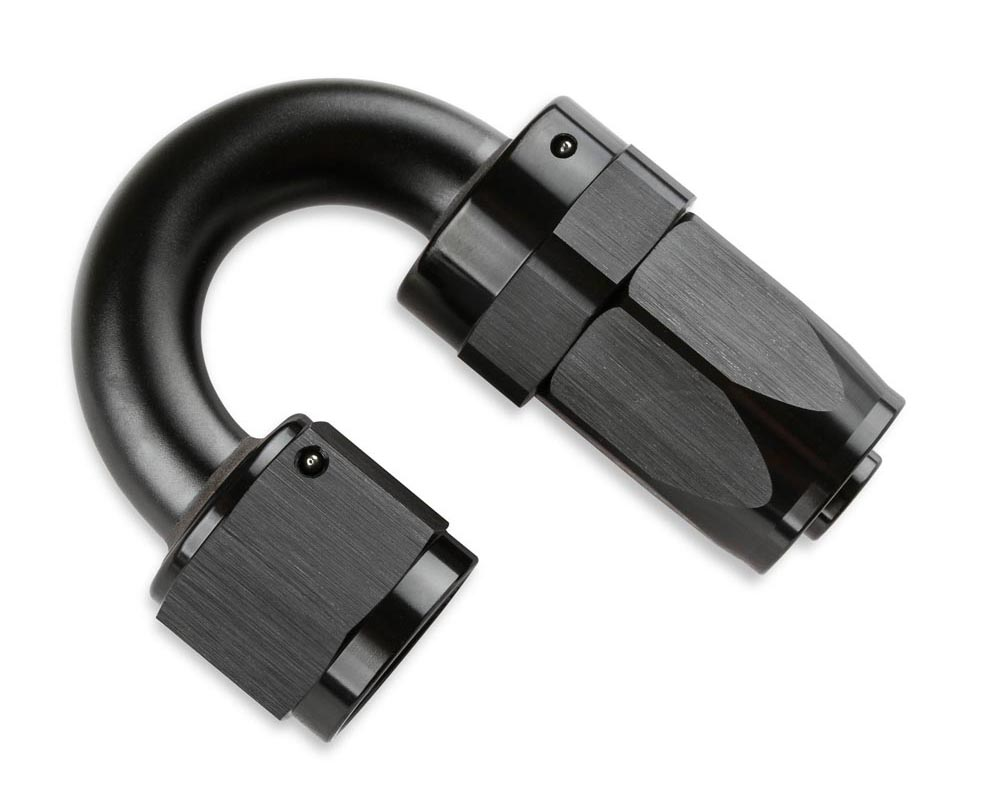 Mr. Gasket -6 AN 180 Degree Swivel Hose End - Black