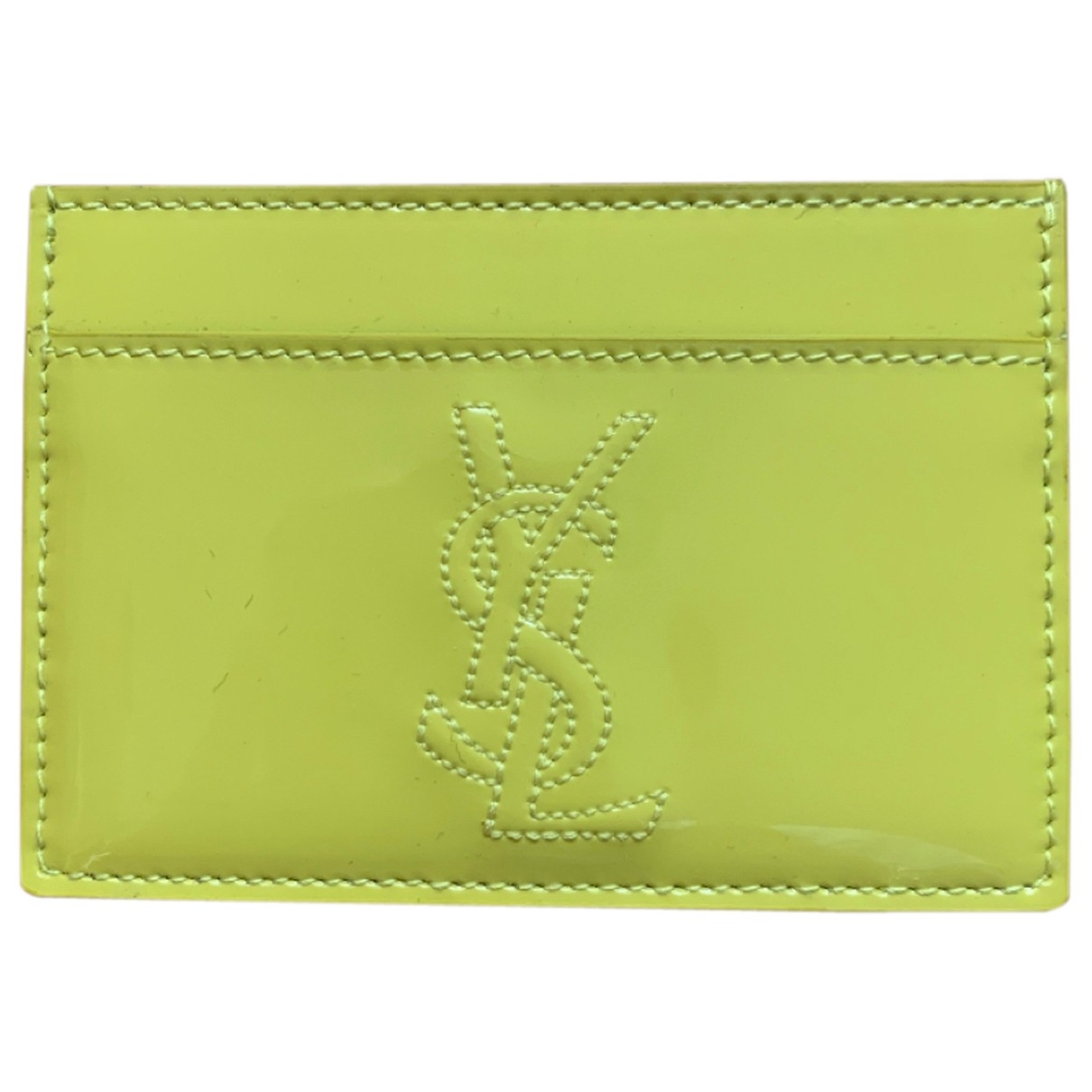 Saint Laurent \N Yellow Patent leather Purses, wallet & cases for Women \N