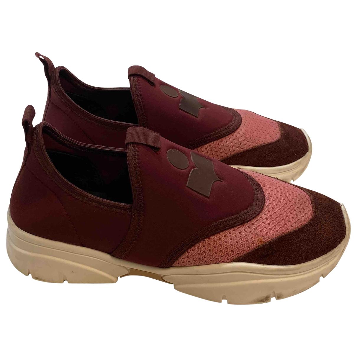 Isabel Marant Kaisee Sneakers in  Bordeauxrot Leinen