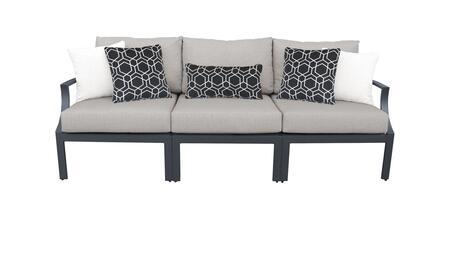 Lexington LEXINGTON-03c-ASH 3-Piece Aluminum Patio Set 03c with Left Arm Chair  Armless Chair and Right Arm Chair - 2 Ash