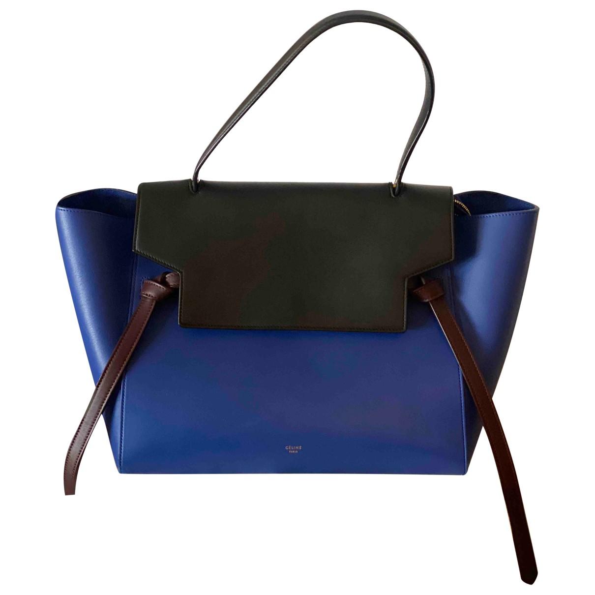 Celine - Sac a main Belt pour femme en cuir - bleu