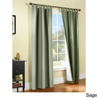 Weathermate Insulated Cotton Curtain Panel Pair (84x160 sage)