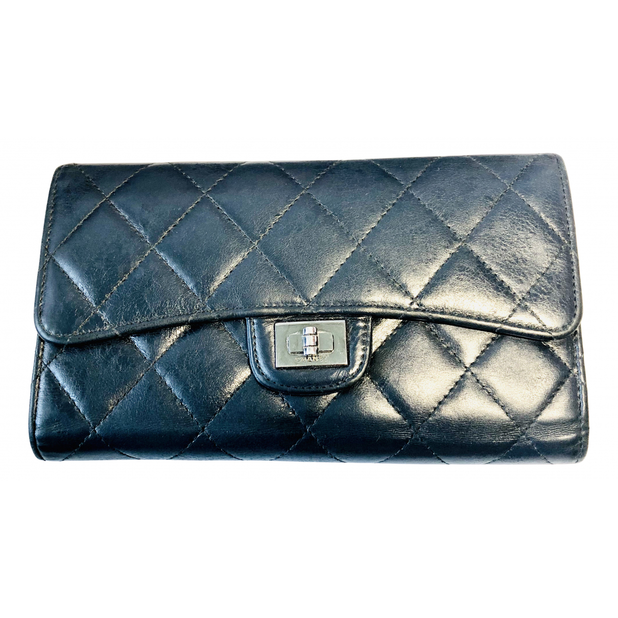 Chanel 2.55 Navy Leather wallet for Women N