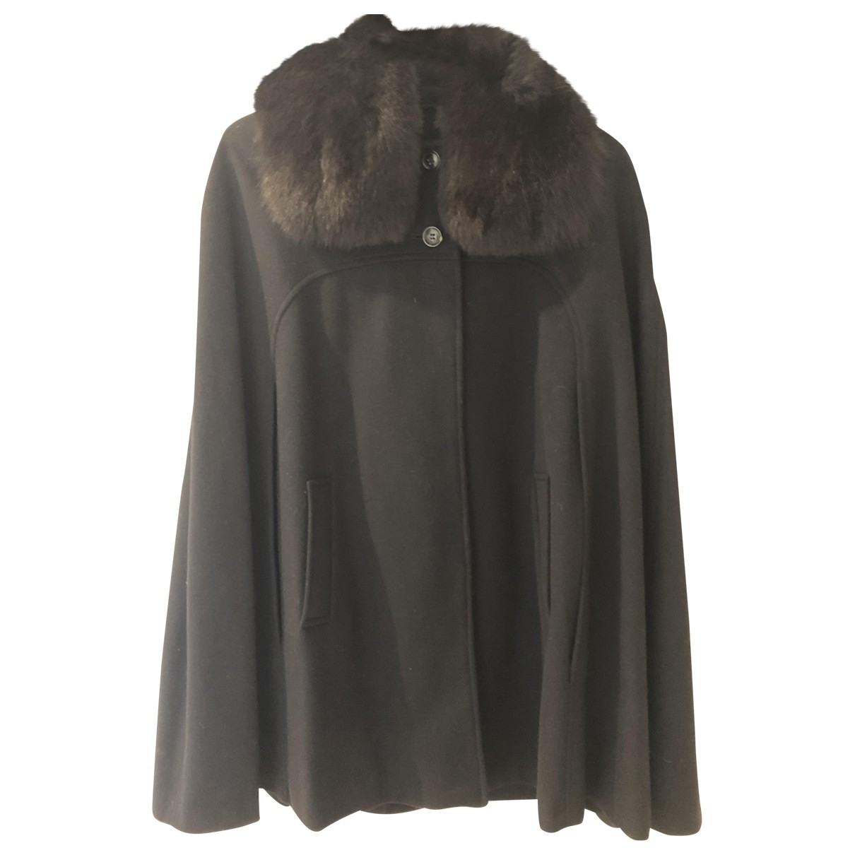 Non Signé / Unsigned \N Black Wool coat for Women 44 IT