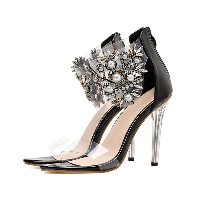 Ericdress Open Toe Heel Covering Zipper Casual Sandals