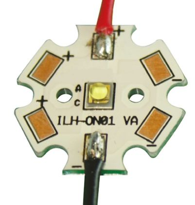 Intelligent LED Solutions ILS ILH-ON01-DEBL-SC211-WIR200., OSLON 80 1+ PowerStar Circular LED Array, 1 Blue LED
