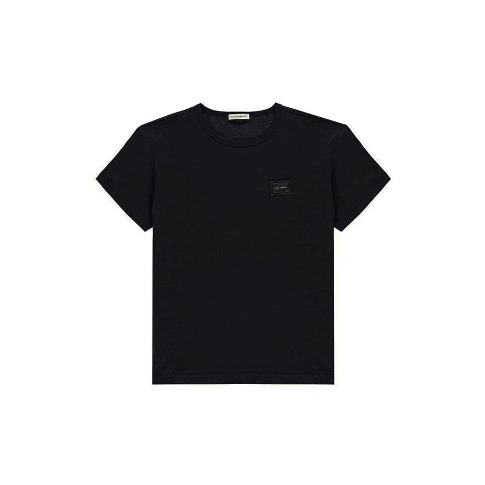 Dolce & Gabbana Cotton Tshirt Colour: BLACK, Size: 4 YEARS