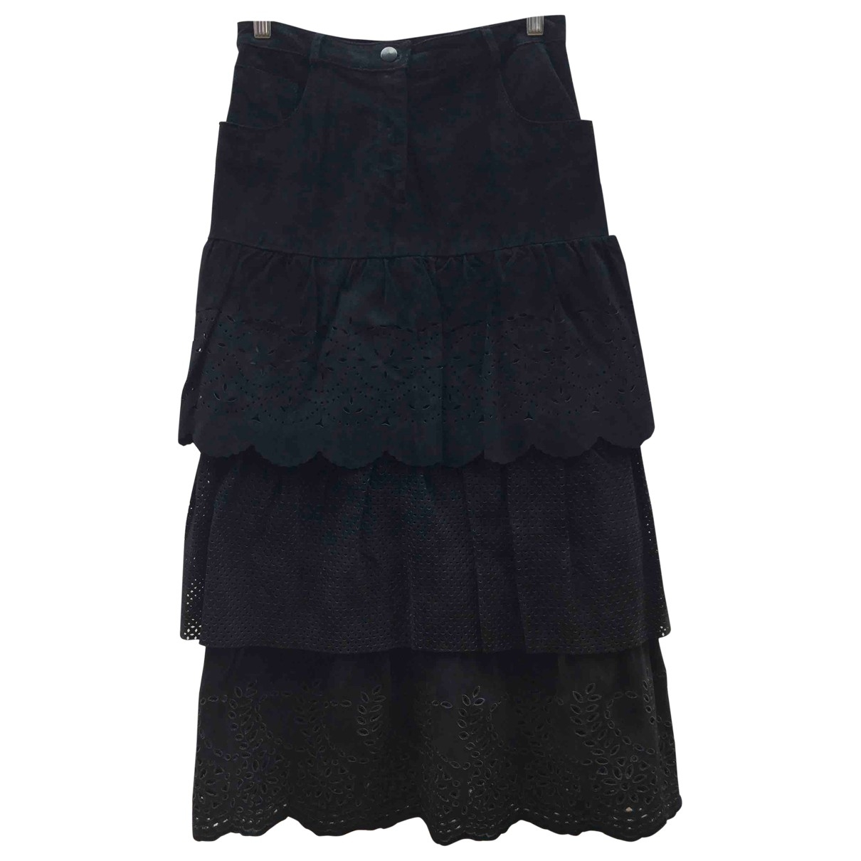 Max Mara \N Black Suede skirt for Women S International