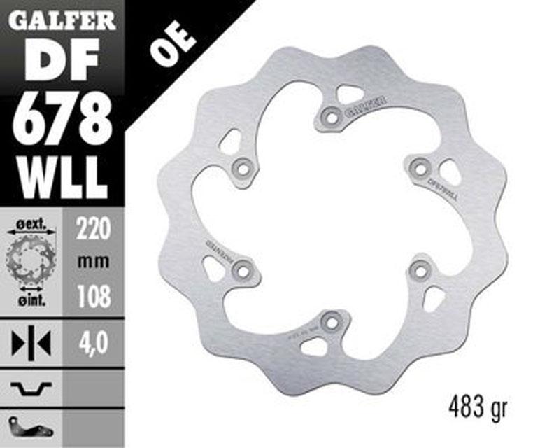 Galfer Rear Brake Disc GAS GAS MC 125