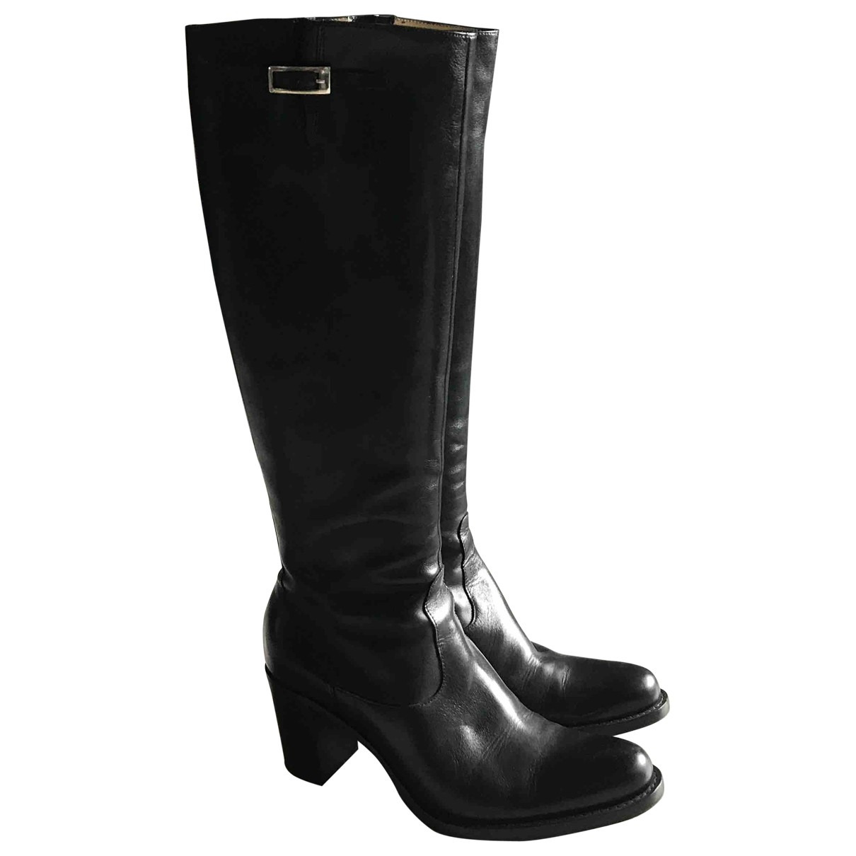 Free Lance \N Black Leather Boots for Women 36 EU