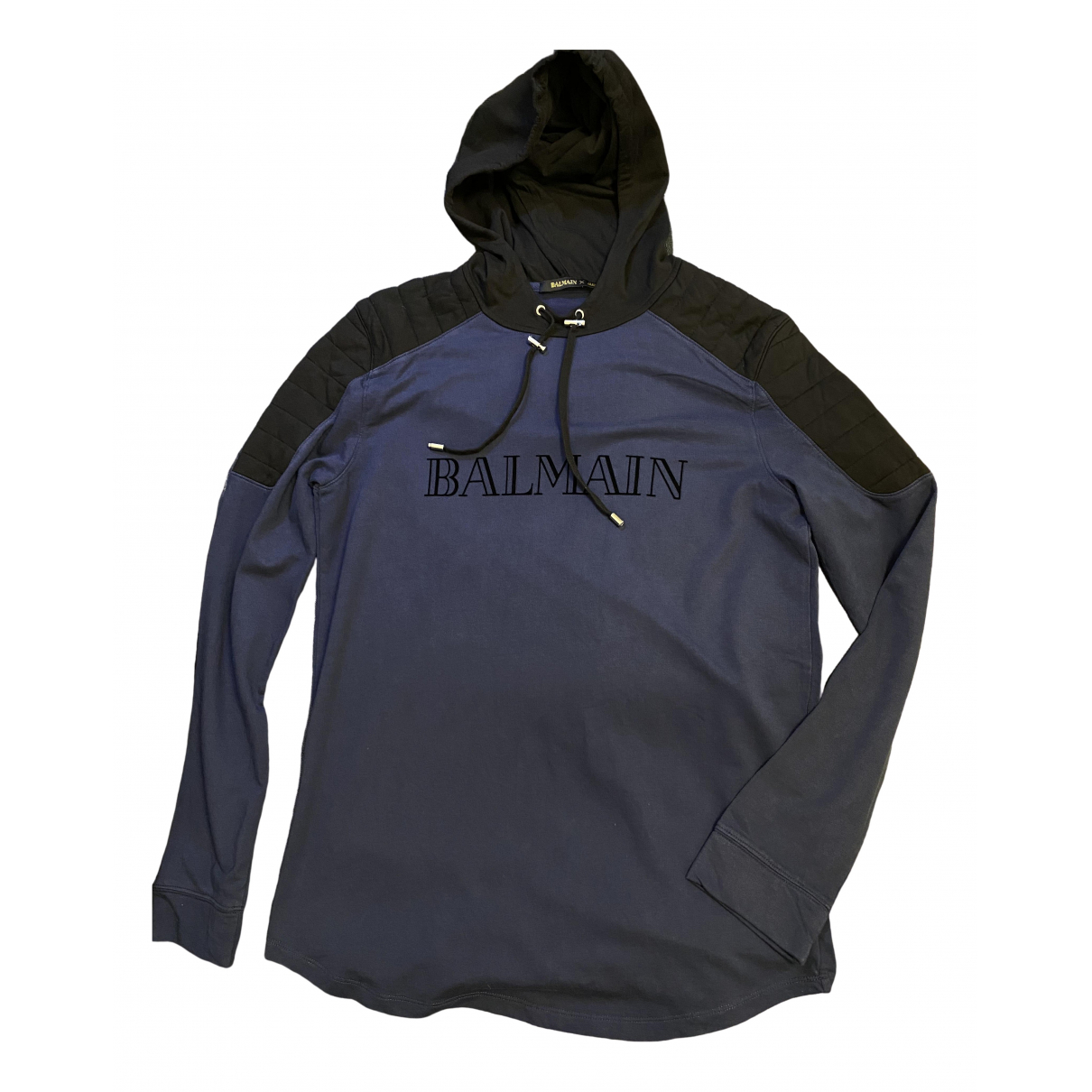 Balmain For H&m \N Pullover.Westen.Sweatshirts  in  Blau Baumwolle