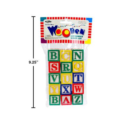 ABC Ensemble de blocs en bois 15 pièces