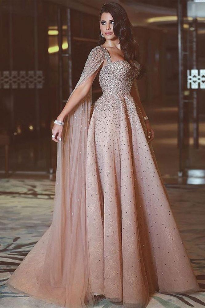 Lentejuelas brillantes cristales largos vestidos de fiesta largos de tul