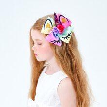 Maedchen Haarklammer mit Einhorn Design