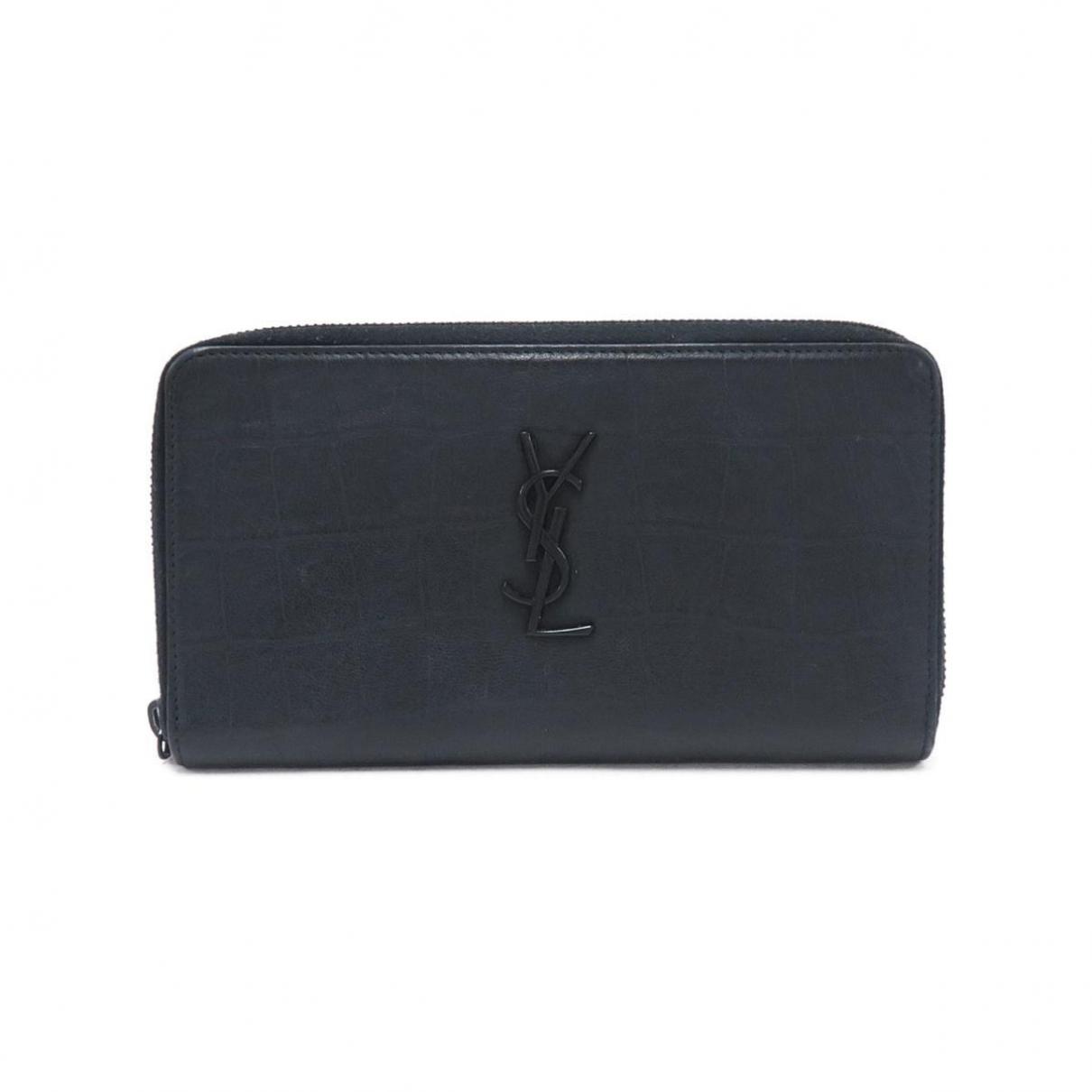 Saint Laurent Rive Gauche Black Leather wallet for Women \N