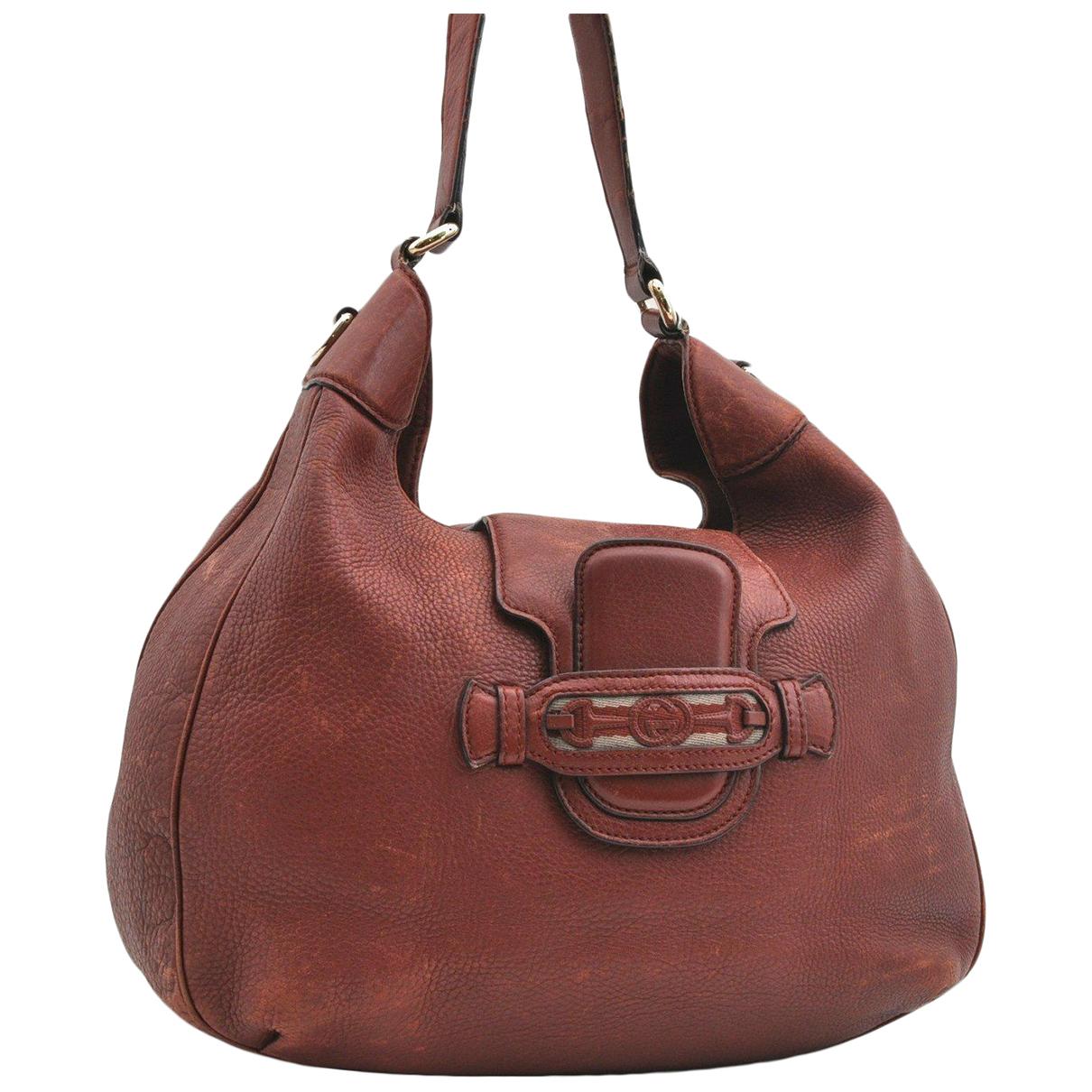Gucci N Burgundy Leather handbag for Women N