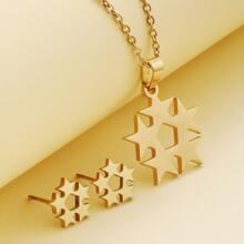 3 Stuecke Jewelry Set mit Stern Dekor
