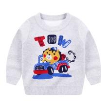 Pullover mit Karikatur & Buchstaben Muster