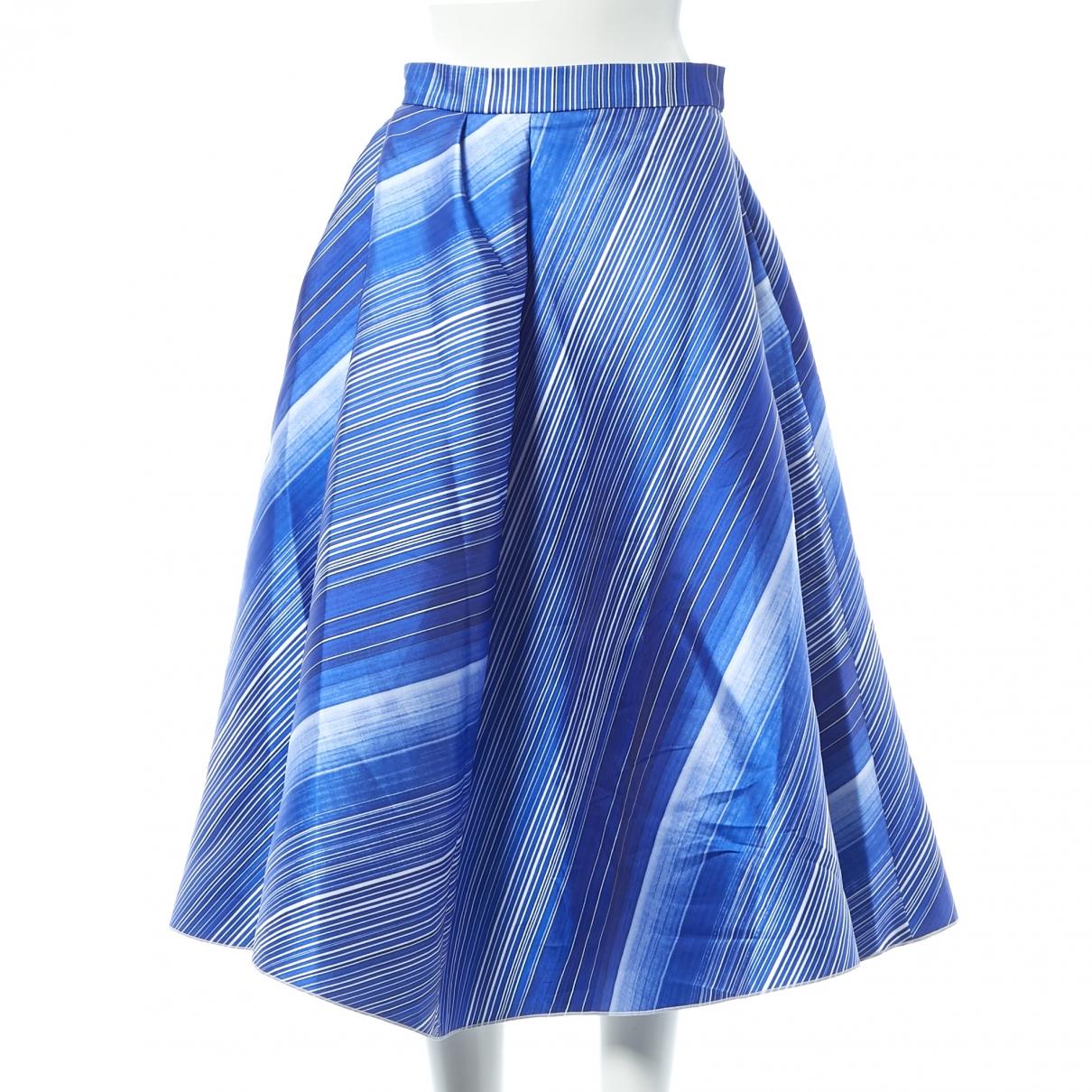 Vika Gazinskaya \N Rocke in  Blau Polyester
