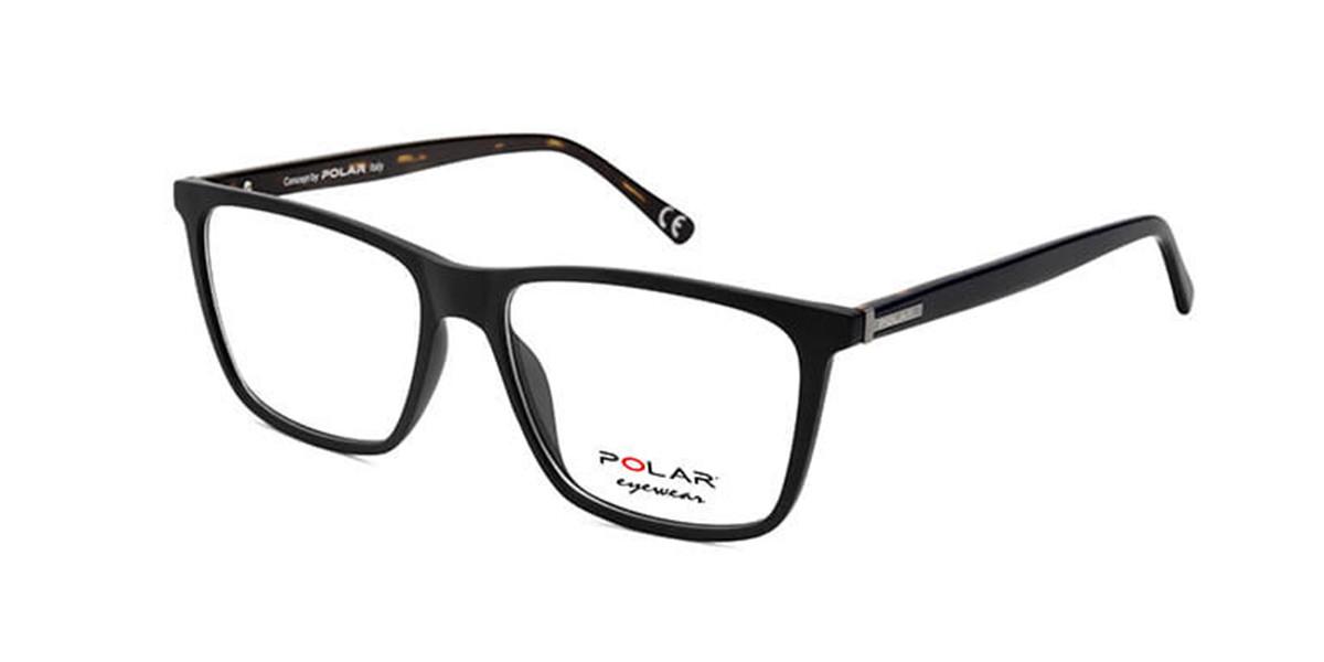 Polar PL 1951 20 Mens Glasses Black Size 54 - Free Lenses - HSA/FSA Insurance - Blue Light Block Available