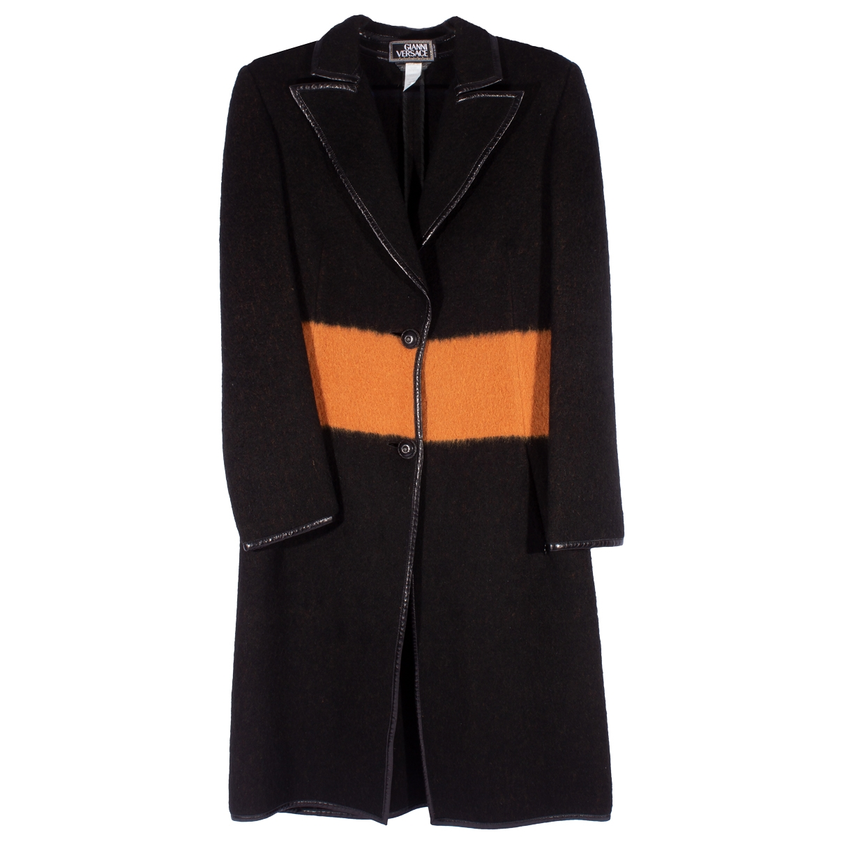 Gianni Versace \N Multicolour Wool coat for Women 42 IT