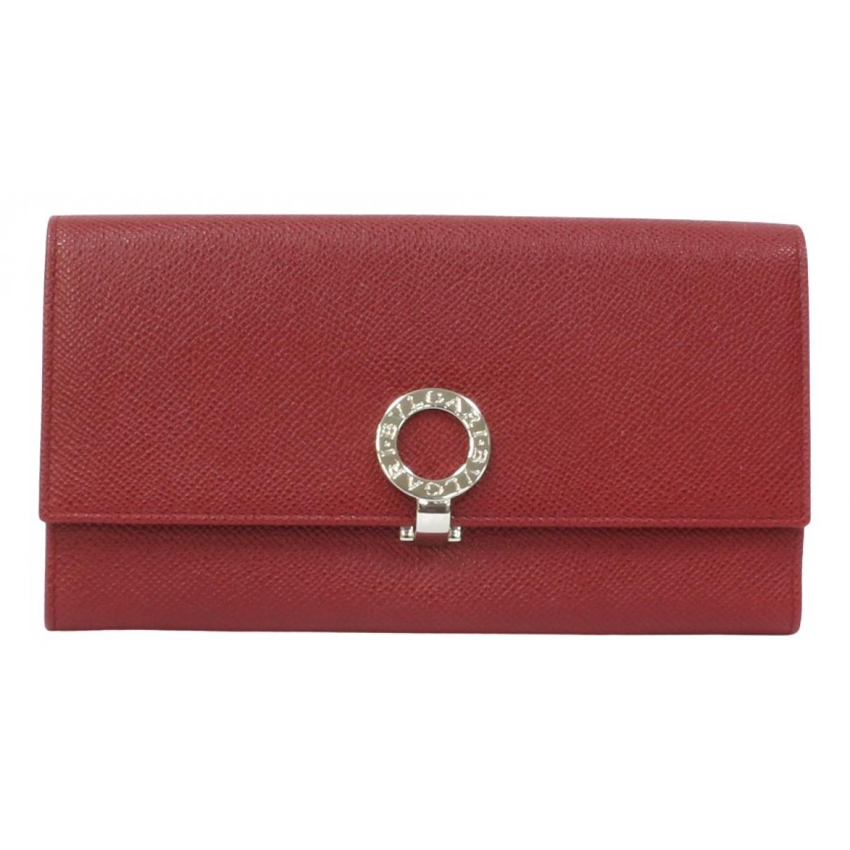 Bvlgari - Portefeuille   pour femme en cuir - rouge