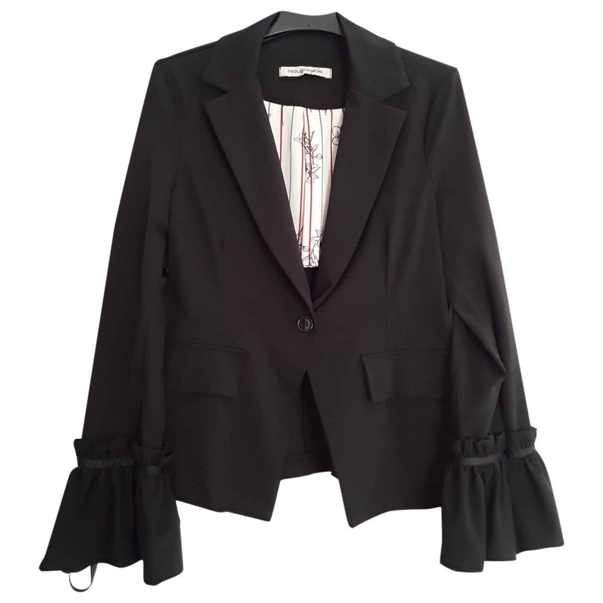 Non Signé / Unsigned \N Black Cotton jacket for Women M International